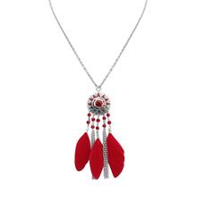 欧美时尚光芒项链(红色)