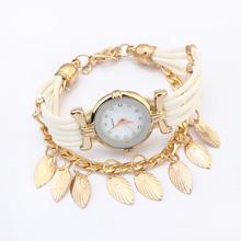 欧美时尚叶子手表(白色)