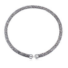 奥地利水晶项链--璀璨光芒(银色)