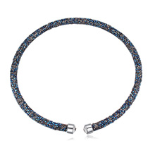 奥地利水晶项链--璀璨光芒(金属蓝)