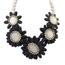 欧美风格米珠百搭风格时尚项链(黑色)
