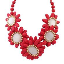 欧美风格米珠百搭风格时尚项链(红色)