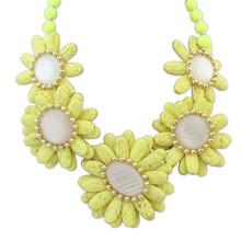 欧美风格米珠百搭风格时尚项链(黄色)