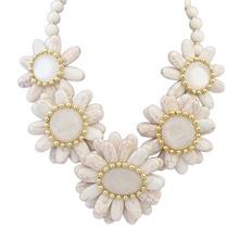 欧美风格米珠百搭风格时尚项链(白色)