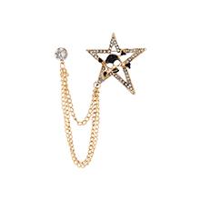 韩版时尚五星骷髅头胸针(KC金)