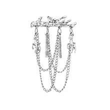 韩版时尚树木小鹿胸针(白K)