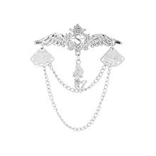 韩版时尚个性翅膀美人鱼胸针(白K)