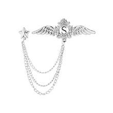 韩版时尚个性翅膀胸针(白K)