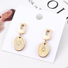 韩版百搭冷淡风时尚木头螺旋状耳环(白色)