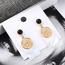 欧美百搭时尚气质头像耳环(黑色)