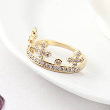 AAA级锆石戒指--皇冠指环(14K金)