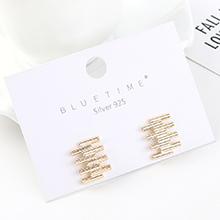 韩版时尚简约创意镀真金冷淡风百搭小天梯S925银针(14K金)