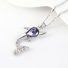 奥地利水晶项链--小鲸鱼(藕荷紫)