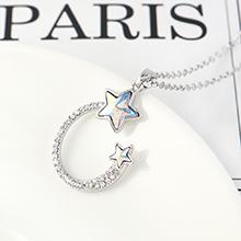 奥地利水晶项链--海派甜星(彩白)