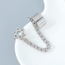 欧美法式时尚个性创意百搭气质流行六芒星单边耳钉耳扣