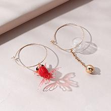 韩版时尚创意个性金鱼不对称耳环