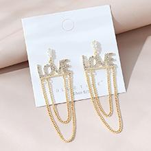 韩版镀真金小仙女百搭时尚创意英文字母S925银针