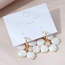 韩版镀真金复古时尚气质大牌百搭珍珠S925银针