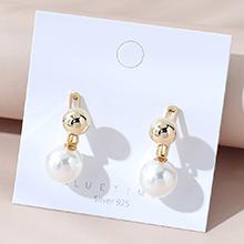 欧美镀真金复古时尚百搭简约小清新创意珍珠S925银针