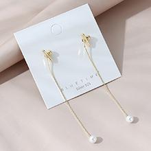 欧美镀真金时尚气质长款百搭ins潮流行爆款珍珠S925银针
