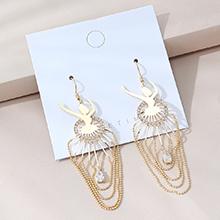 欧美镀真金时尚创意个性夸张百搭芭蕾女郎S925银针