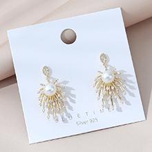 欧美镀真金法式小仙女百搭时尚小众ins潮珍珠S925银针