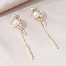 韩版镀真金复古时尚长款百搭气质ins潮珍珠S925银针