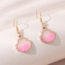 欧美创意简约百搭时尚流行耳环(粉色)