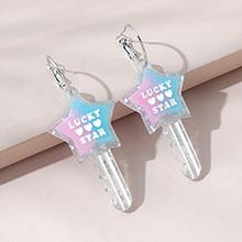 韩版时尚百搭流行创意ins潮五星钥匙耳环